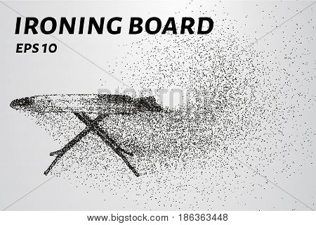 Ironing Board Made Of Particles. An Ironing Board Consists Of Small Circles And Dots. Vector Illustr