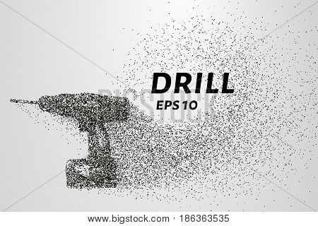 Drill Of The Particles. The Drill Consists Of Small Circles And Dots. Vector Illustration.