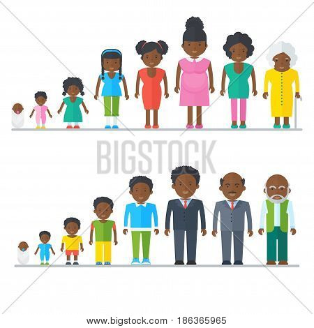 Big Black People Family