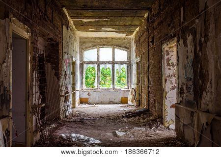 The Old And Ruined Room Of A Building, Lost Places