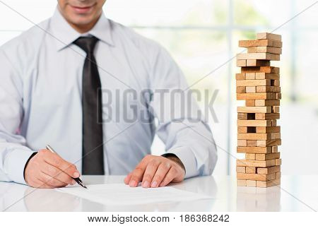 Businessman Is Taking Risk And Starting New Business