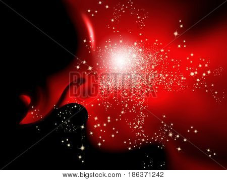 Red black background with sparkle lights