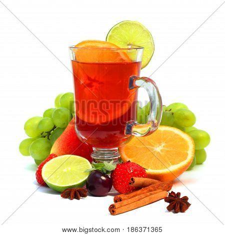 Sangria And Fruits