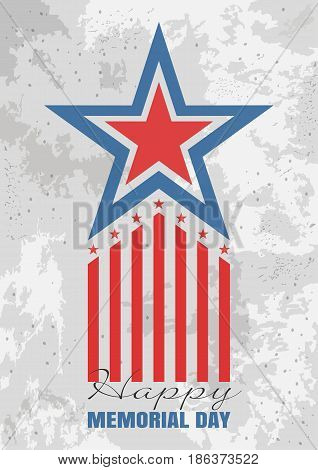 Memorial Day background. Greeting card for Memorial Day. Vector illustration
