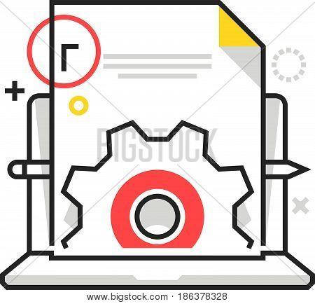 Color Box Icon, Content Management Illustration, Icon