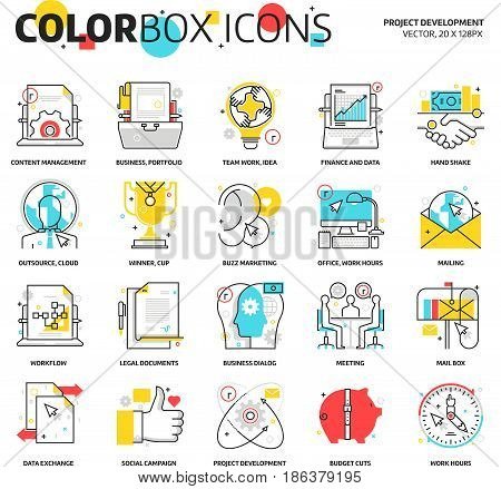 Color Box Icons, Project Development Backgrounds And Graphics