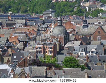 Stunning aerial view of City of Namur, Wallonia regeion, Belgium poster