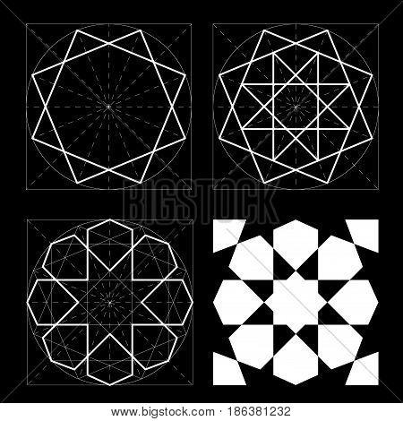Geometric Shapes. Islamic Pattern