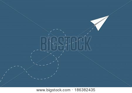 Airplane with flying direction. Minimalist style wallpaper for busines presentation