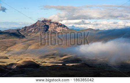 Sinchulagua Volcano,  Andean Highlands Of Ecuador, South America