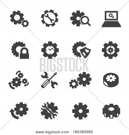 Abstract Gear Icon Logo Maintenance Vector eps10