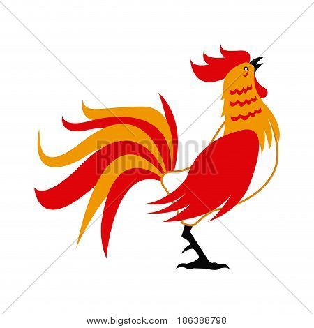 red rooster for chinese celebration. usable for calendar, postcard, poster, and wallpaper. vector illustration