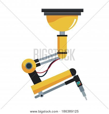 industrial robotic arm technology futuristic vector illustration