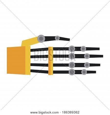 steel metallic robotic cyborg hand vector illustration