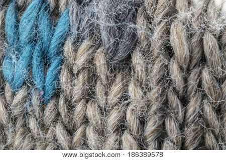 Close Up Detailed Knitwear  Wool Fabric