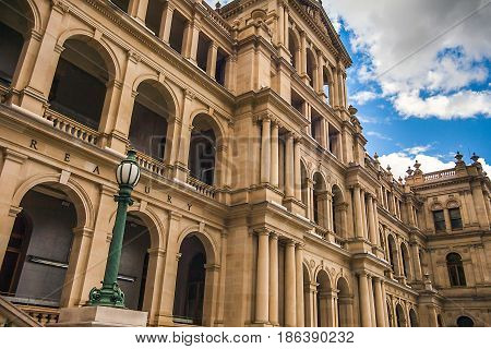 The Treasury Building in Brisbane Queensland Australia