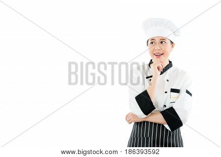 Chef Thinking Looking Smiling And Happy