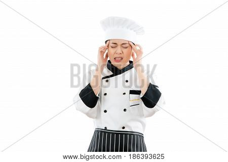 Woman Cook Tired Stressed And Overworked