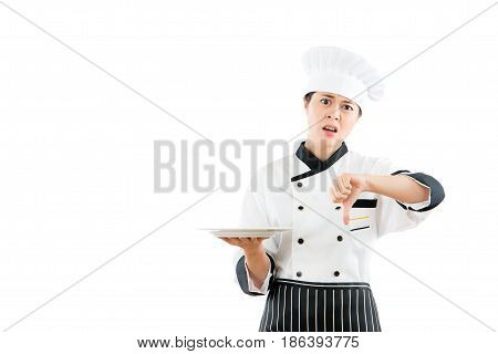 Angry Chef Showing Unhappy Facial Expressions