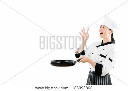 Female Chef Looking At Copyspace Fantasy Food