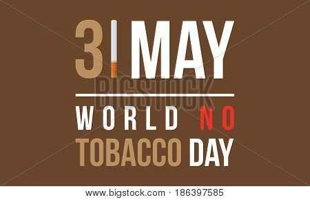 vector flat world no tobacco day style collection stock