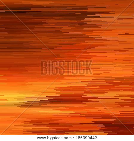Glitch Abstract Background. Vector Illustration. Yellow, Orange Colors.
