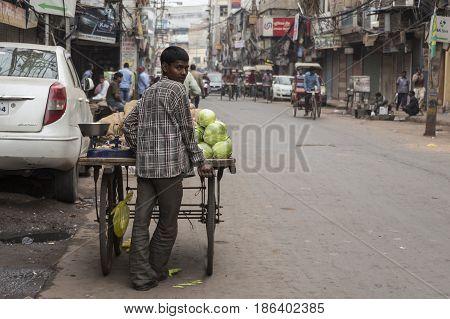 Vegetable Stall Boy