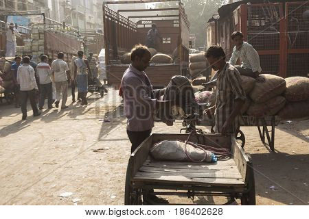 Unidentified Indian Worker
