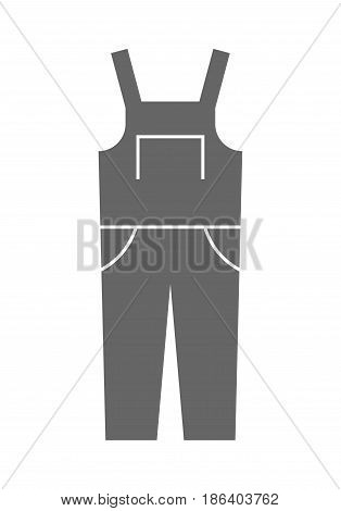 Coverall, protective clothing. Flat icon and object for design.