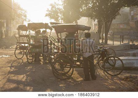 Rickshaw In Light