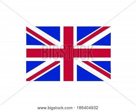 british flag vector illustration art on white