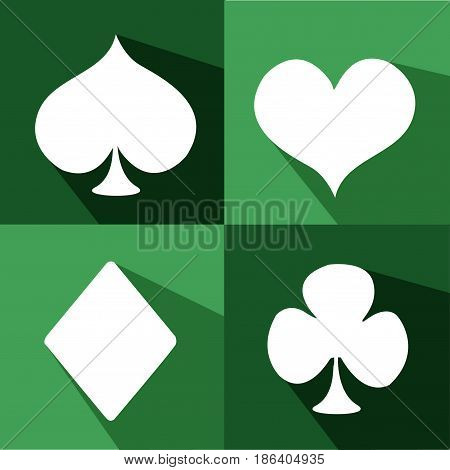 Playing Card Suit Icon collection Symbol Set
