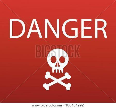 Warning sign with skull vector illustration art