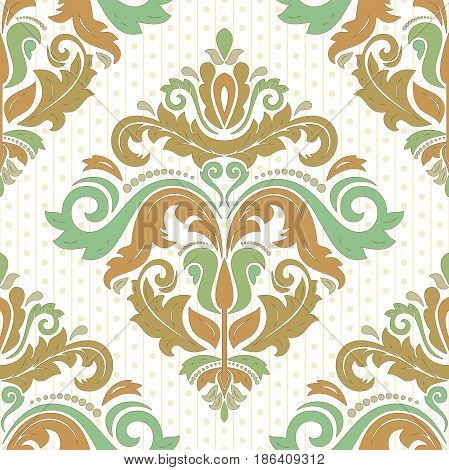 Classic seamless vector colored pattern. Traditional orient ornament. Classic vintage background