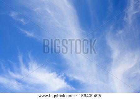beautiful clouds in a blue sky on a sunny day
