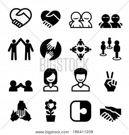 Friendship icon set Vector illustration Graphic design