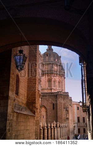 Medieval Toledo in Spain being visited through its streets and Cathedral neighborhood