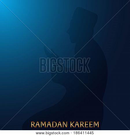 Ramadan Kareem. Ramadan Mubarak. Greeting Card. Vector Illustration.