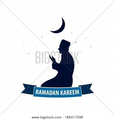 Emblem For Ramadan. Ramadan Kareem. Vector Illsutration.