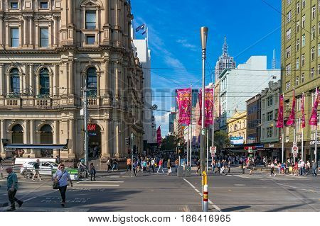 Shopping Mall On Bourke Street With Hm Store