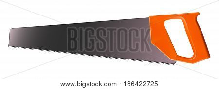Crosscut saw isolated on white background. Realistic vector 3D illustration