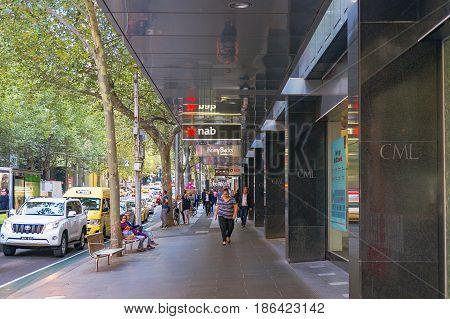 Collins Street In Melbourne Cbd