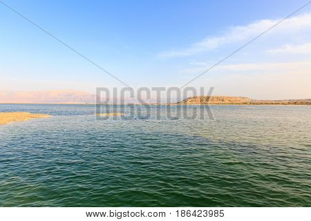 Time Before Sunset On The Dead Sea