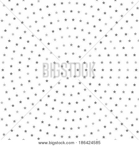Geometric modern vector pattern. Fine ornament with silver stars. Geometric abstract pattern
