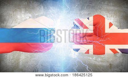 UK vs Russia   3D rendering