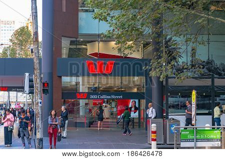 Westpac Bank On Collins Street In Melbourne Cbd
