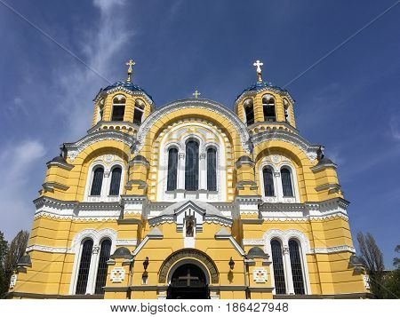 St.Vladimir's Cathedral in Kyiv, the capital of Ukraine