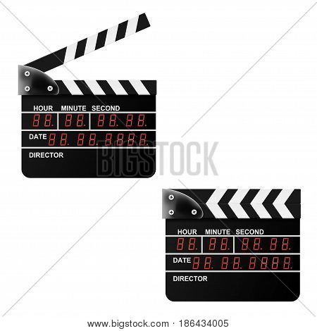 Digital Movie clapper board on a white background. Vector illustration.