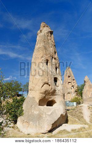 Cave House In Uchisar. Cappadocia. Turkey