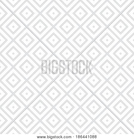 Seamless pattern. Modern stylish texture. Regularly repeating geometrical rhombus tiles with dotted stripes. Vector element of graphical design